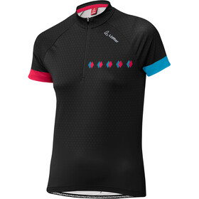 Löffler Rise Up Half-Zip Fahrrad Shirt Damen black
